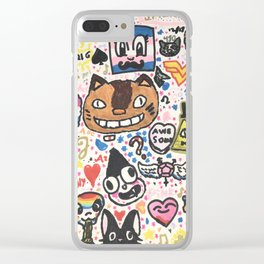 Pop Swag Clear iPhone Case