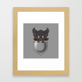Dragon Pocket Tee Framed Art Print
