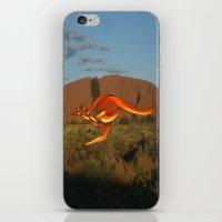 kangaroo iPhone & iPod Skins featuring Kangaroo by Knot Your World