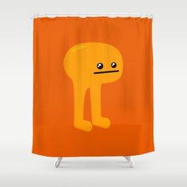 Orange Leggy Shower Curtain