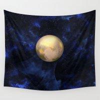 rothko Wall Tapestries featuring Hello Pluto! by Klara Acel