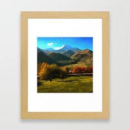 Kazbek Framed Art Print