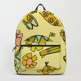 wanderlust // dream homes among the waves // surfy birdy art Backpack