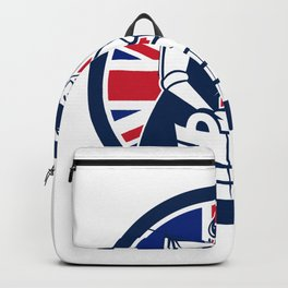 British Laundry Union Jack Flag Icon Backpack