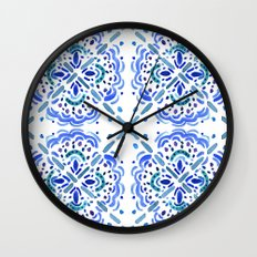 Amalfi Tile Wall Clock