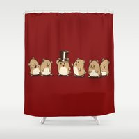 hamster Shower Curtains featuring Fancy Hamster by Mr. And Mrs. Inky Hands