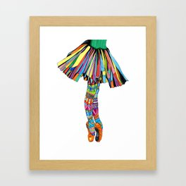 Happy Ballerina Framed Art Print