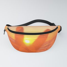 Pink Sunset Peace Sign Fanny Pack