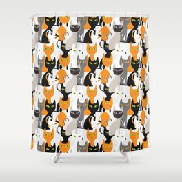 various cats collection Shower Curtain
