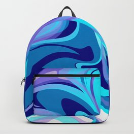 Liquify in Turquoise, Lavender, Purple, Navy Backpack