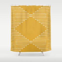 Geo (Yellow) Shower Curtain