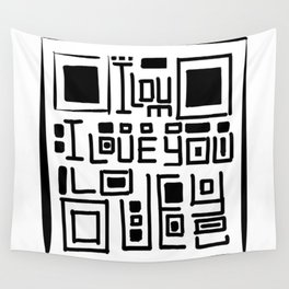 I love you code Wall Tapestry