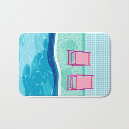 Vay-K - abstract memphis throwback poolside swim team palm springs vacation socal pool hang Bath Mat