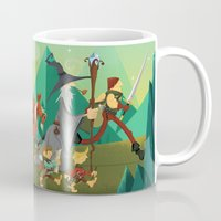 lord of the rings Mugs featuring Lord Of The Rings by O'Banion Art