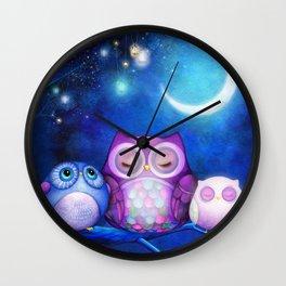 Night Owls & Fairy Lanterns Wall Clock