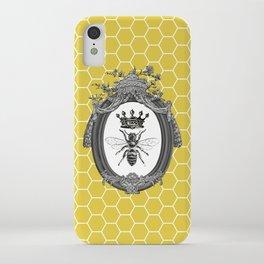 Queen Bee | Vintage Bee with Crown | Honeycomb | iPhone Case