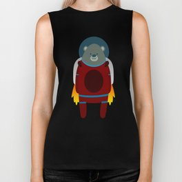 Major Ursa from Ursa Minor: Bear in Space Biker Tank