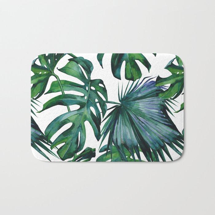 Tropical Palm Leaves Classic Bath Mat