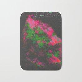 """Cellular Migration"" (Fuchsia/Green) Digital Painting // Fine Art Print Bath Mat"