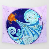 aquarius Wall Tapestries featuring Aquarius by Sandra Nascimento