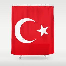 Flag of Turkey Shower Curtain