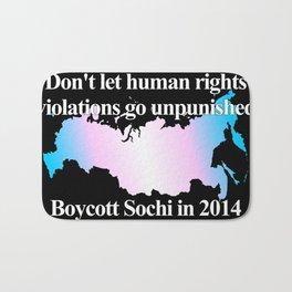 Boycott Sochi - Transgender Flag Gradient Bath Mat