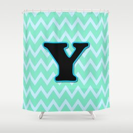 Letter Y Shower Curtain