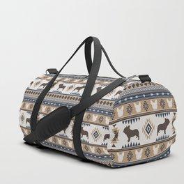 Boho dogs | French bulldog tan Duffle Bag