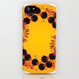 Sunny khokhloma iPhone Case