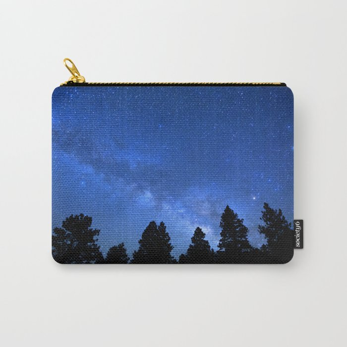 Milky Way (Black Trees Blue Space) Carry-All Pouch