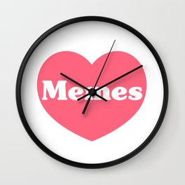 Heart Memes Wall Clock