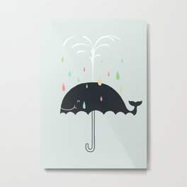 Happy Rainy Day Metal Print