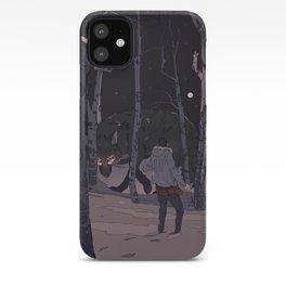 Kitsune at Night iPhone Case