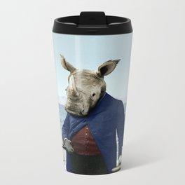 Mr. Rhino's Day at the Beach Metal Travel Mug