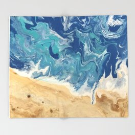 Beach Abstract Throw Blanket