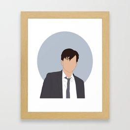 Alec grumpy Hardy Framed Art Print