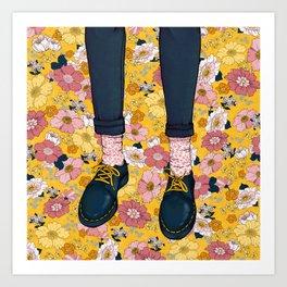 Daisy Docs Art Print