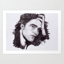 Robert Pattinson Art Print