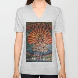 Hindu Temple Art Unisex V-Neck