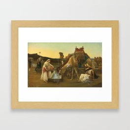 Alexandre Cabanel - Rebecca and Eliezer 1883 Framed Art Print