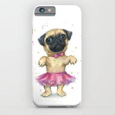 Pug in a Tutu Cute Animal Whimsical Dog Portrait iPhone 6s Slim Case