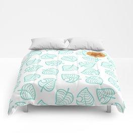 animal crossing cute nook shirt pattern Comforters