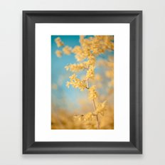 I Dream In Yellow Framed Art Print