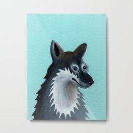 Mrs. Gray Wolf Metal Print