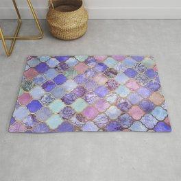 Royal Purple, Mauve & Indigo Decorative Moroccan Tile Pattern Rug