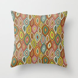 Enchanted Gypsy Leaves Throw Pillow
