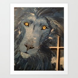 Lion and the Lamb Art Print