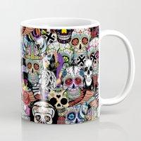 halloween Mugs featuring halloween by mark ashkenazi
