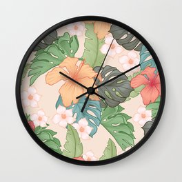 Sweet Pink Blooms Wall Clock