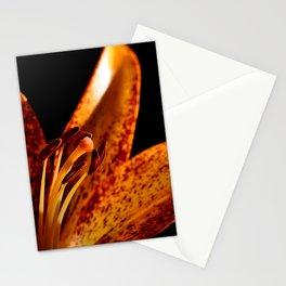 Orange lily close up Stationery Cards